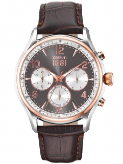 Cerruti CRA107STR13BR Bellagio Chronograph 44mm 5ATM