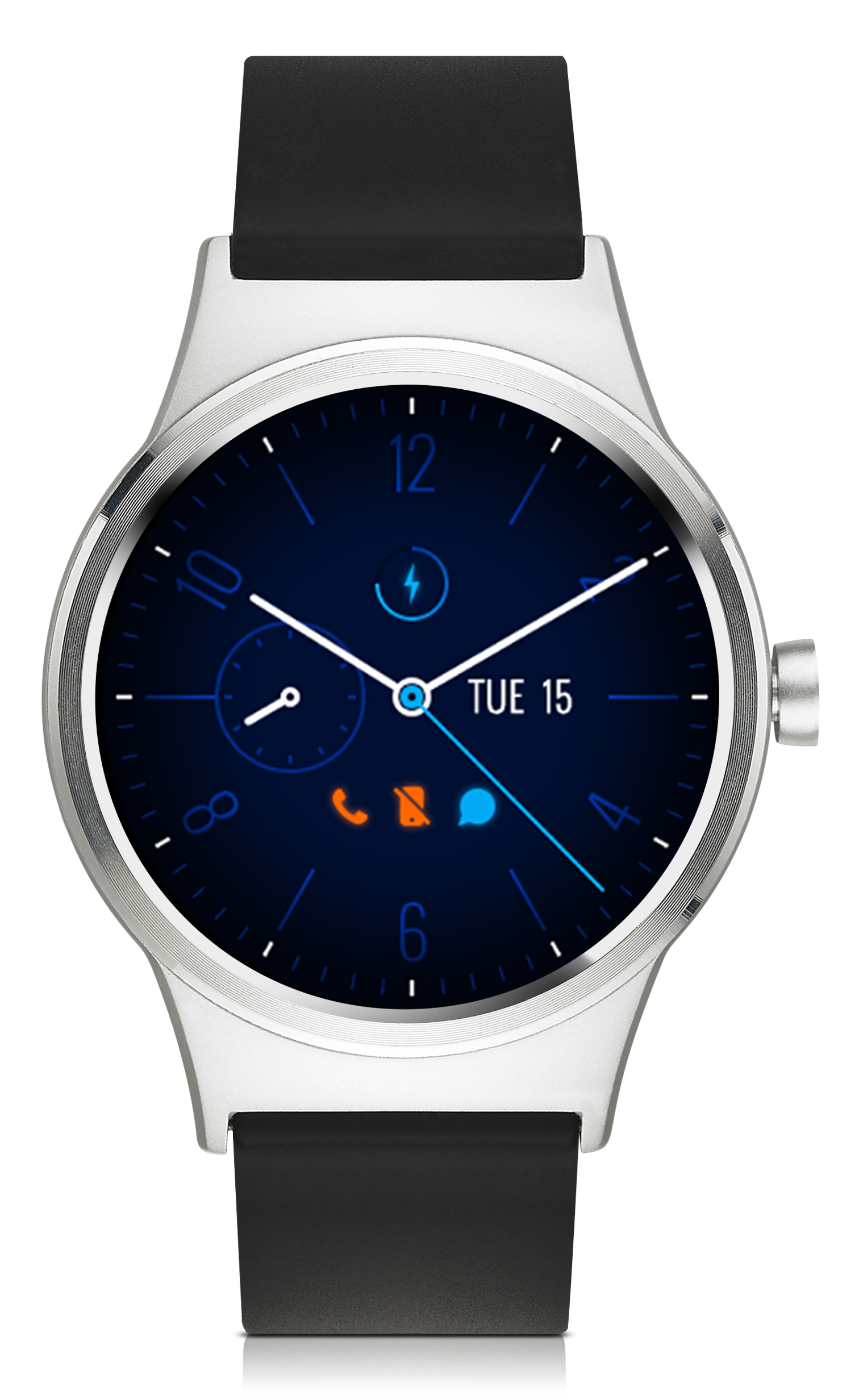 TCL MOVETIME Smartwatch, TPU, Silver/Black