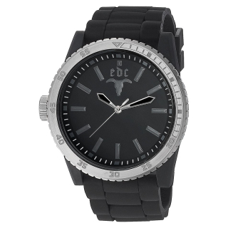 edc by Esprit EE100831002 Rubber Star Midnight Black Silver